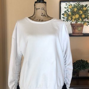 ♠️Halogen Sweatshirt with bows at sleeve